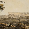 A Roman Landscape With The Colosseum And Figural Staffage by Celestial Images