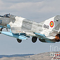 A Romanian Air Force Mig-21c Taking by Giovanni Colla