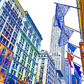 A Row Of Flags In The City Of New York 1 by Jeelan Clark