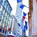A Row Of Flags In The City Of New York 2 by Jeelan Clark