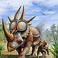 A Rubeosaurus And His Offspring by Mohamad Haghani
