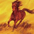 A Running Horse by Zhan Jianjun