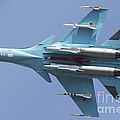 A Russian Air Force Su-34 In Flight by Daniele Faccioli