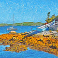 A Sailboat Near Halifax Nova Scotia by Digital Photographic Arts