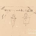 A Sailing Ship [verso] by Edward Lear