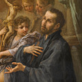 A Saint At Prayer by Sebastiano Conca