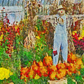 A Scarecrow Protecting The Autumn Harvest by Digital Photographic Arts
