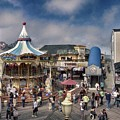 A Scene At The San Francisco Carousel by Charleen Treasures