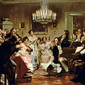 A Schubert Evening In A Vienna Salon by Julius Schmid