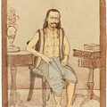 A Seated Indian Priest With English Furniture by Eastern Accents