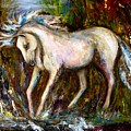 A Secret Place White Hores Painting by Frances Gillotti