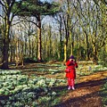 A Selfie In Snowdrop Wood by Joan-Violet Stretch