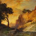A Side Canyon by Thomas Moran