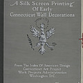 A Silk Screen Printing Of Early Connecticut Wall Decorations, Portfolio Cover by Lawrence Flynn