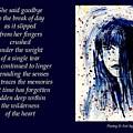 A Single Tear - Poetry In Art by Robin Monroe