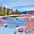 A Snowy Moose River by David Patterson