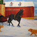 A Snowy Sleigh Ride by Gloria Condon