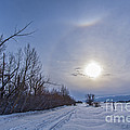 A Solar Halo Around The Sun At The End by Alan Dyer