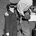 A Soldier's Goodby Kiss by Underwood Archives