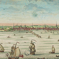 A South East View Of The Great Town Of Boston In New England In America, 1730 by John Carwitham