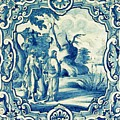 A South-german Faience Stove Tile Second Half 18th Century, By Adam Asar, No 18a by Adam Asar