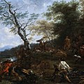 A Stag Hunt Nicolaes Claes Pietersz Berchem by Eloisa Mannion