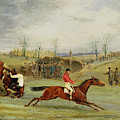 A Steeplechase - Another Hedge by Henry Thomas Alken