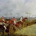 A Steeplechase - Taking A Hedge And Ditch Henry Thomas Alken by Eloisa Mannion