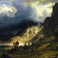 A Storm In The Rocky Mountains Mt. Rosalie, 1866 by Albert Bierstadt