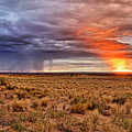 A Stormy New Mexico Sunset - Storm - Landscape by Jason Politte