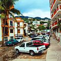A Street In Puerto Vallarta by Kathy Kelly
