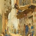 A Street Scene In Cairo by Egorovich