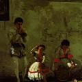 A Street Scene In Sevilla 1870 by Eakins Thomas