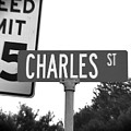 Ch - A Street Sign Named Charles Speed Limit 35 by Jenifer West