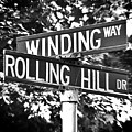 Wi - A Street Sign Named Winding Way And Rolling Hill by Jenifer West