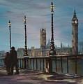 An Evening Stroll Along The Thames  by Jean Walker