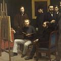 A Studio At Les Batignolles 1870 by Henri Fantin Latour