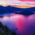 Crater Lake Sunset, Oregon by Tirza Roring