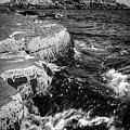 A Summer's Day At Nubble Light, York, Maine  -67969-bw by John Bald