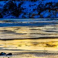A Sunset In A River Of Ice by James Stewart