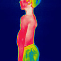 A Thermogram Of A Boy In Shorts Profile by Ted Kinsman