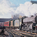 A 'thompson' B1 Class Moving Empty Stock On A Cold February Morning by David Nolan