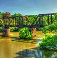 A Time Gone By Railroad Bridge Lumber City Georgia by Reid Callaway