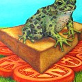 A Toad On Texas Toast Over Tomatoes by Joetta Currie