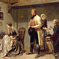 A Toast To The Engaged Couple by Carl Wilhelm Huebner