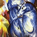 A Tower Of Blue Horses by Franz Marc