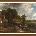 A Tribute To John Constable Catus 1 No. 1 -the Hay Wain L B With Alt. Decorative Ornate Frame. by Gert J Rheeders
