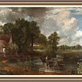 A Tribute To John Constable Catus 1 No.1 - The Hay Wain L A  With Alt. Decorative Ornate Printed Fr  by Gert J Rheeders