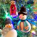 A Trio Of Snowmen by Mo Barton