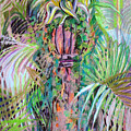 A Tropical Basket On A Post by Mindy Newman